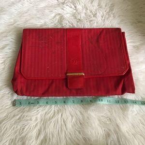 Fendi Vintage Red Clutch
